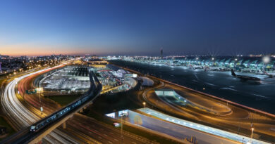 dubai airport night view